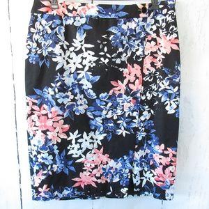 Talbots Pencil Skirt Floral Career Work Suit
